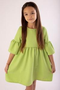 Zielona sukienka dziewczęca Myprincess / Lily Grey z bawełny