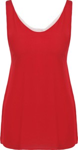 Czerwona bluzka Max & Co. w stylu casual z jedwabiu z okrągłym dekoltem