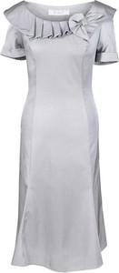 Sukienka Fokus z okrągłym dekoltem z tkaniny midi