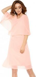 Różowa sukienka Lemoniade z szyfonu