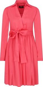 Sukienka Mytwin Twinset z dekoltem w kształcie litery v z długim rękawem w stylu casual