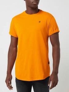Pomarańczowy t-shirt G-Star Raw z bawełny w stylu casual