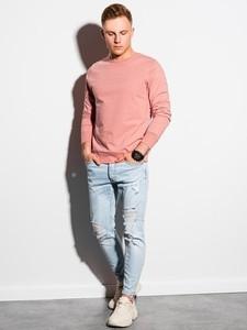 Różowa bluza Ombre z nadrukiem