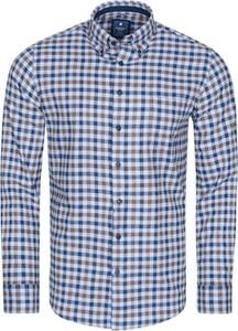 Koszula Redmond z kołnierzykiem button down w stylu casual z bawełny