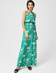 Zielona sukienka Moodo w stylu boho