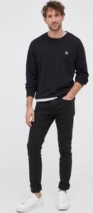 Czarna bluza United Colors Of Benetton z bawełny w stylu casual