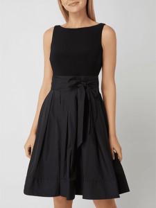 Czarna sukienka Ralph Lauren bez rękawów z okrągłym dekoltem