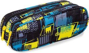 Piórnik / saszetka dwukomorowa CoolPack CLEVER SQUARES kolorowe kwadraty abstrakcja