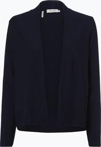 Granatowy sweter März z wełny w stylu casual