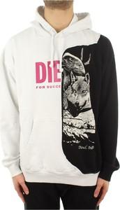 Czarna bluza Diesel w młodzieżowym stylu z bawełny