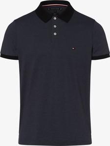 Granatowa koszulka polo Tommy Hilfiger z krótkim rękawem