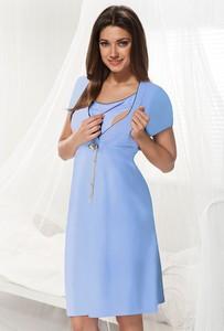 Niebieska koszula nocna dla ciężarnych i karmiących dorota niebieski