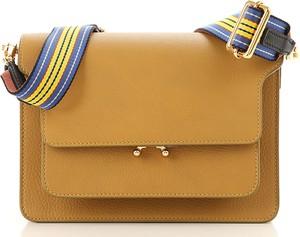 Żółta torebka Marni ze skóry na ramię