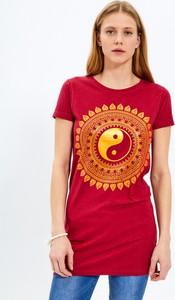 T-shirt Gate z nadrukiem z krótkim rękawem