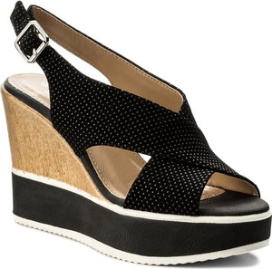 Czarne sandały Jenny Fairy w stylu casual