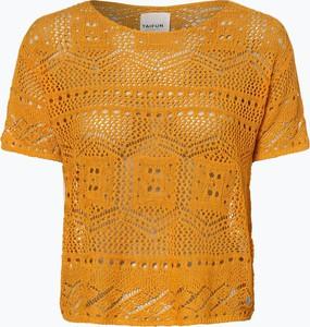 Żółty t-shirt Taifun z krótkim rękawem