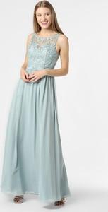 Niebieska sukienka Laona z szyfonu z okrągłym dekoltem bez rękawów