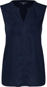 Niebieska bluzka Tom Tailor Denim bez rękawów