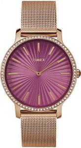Zegarek Timex Metropolitan 34 TW2R50500 Slim Rose Gold