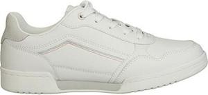 Buty sportowe Sprandi z płaską podeszwą sznurowane ze skóry