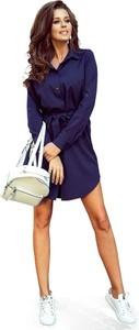 Sukienka NUMOCO z długim rękawem mini w stylu casual