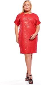 Sukienka Fokus z krótkim rękawem dla puszystych