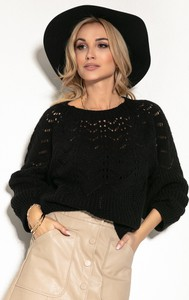 Czarny sweter Fobya w stylu casual