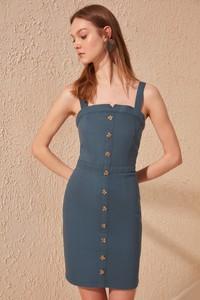 Granatowa sukienka Trendyol w stylu casual bez rękawów mini