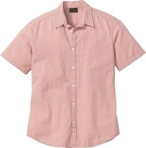 Różowa koszula bonprix bpc selection w stylu casual z krótkim rękawem
