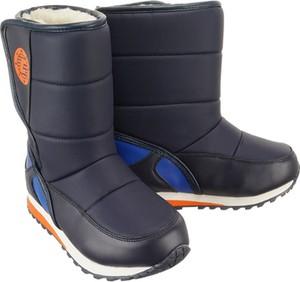 Granatowe buty dziecięce zimowe Wojtyłko