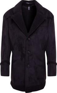 Granatowy płaszcz męski Drykorn w stylu casual