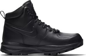 Czarne buty zimowe Nike ze skóry