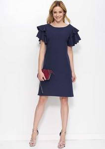 Granatowa sukienka Makadamia mini