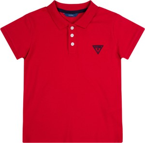 Czerwona koszulka dziecięca Guess z krótkim rękawem