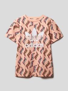 Różowa bluzka dziecięca Adidas Originals dla dziewczynek z krótkim rękawem