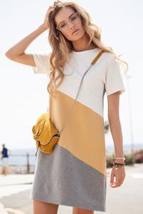 Sukienka MOE w stylu casual z krótkim rękawem