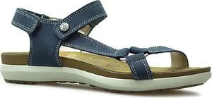 Niebieskie sandały Imac z płaską podeszwą w sportowym stylu