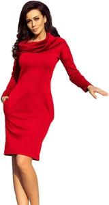 Sukienka NUMOCO mini z długim rękawem z golfem