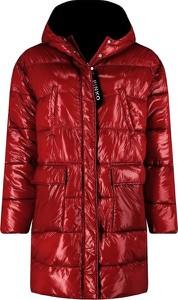 Czerwona kurtka Pinko długa w stylu casual