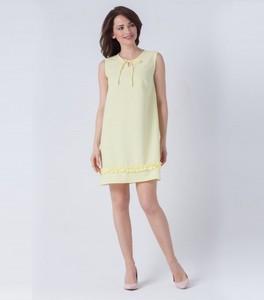 Sukienka butik-choice.pl z okrągłym dekoltem midi