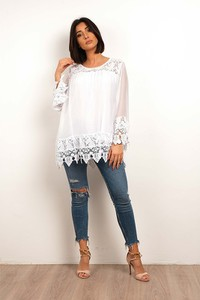 Bluzka Plus Size Fashion z okrągłym dekoltem
