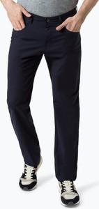 Granatowe spodnie Nils Sundström z bawełny