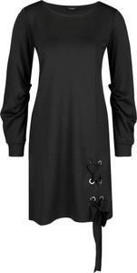 Sukienka Max & Co. z długim rękawem z okrągłym dekoltem w stylu casual