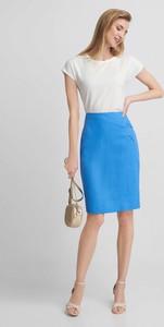Niebieska spódnica QUIOSQUE midi