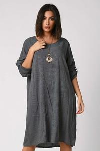 Sukienka Plus Size Company z długim rękawem w stylu casual z bawełny