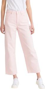 Różowe jeansy Lee w stylu casual