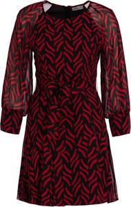 Czerwona sukienka Marella rozkloszowana mini w stylu casual