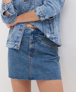 Niebieska spódnica Sinsay w stylu casual mini z jeansu