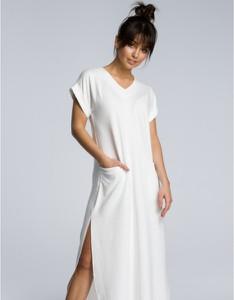 Sukienka Be maxi z krótkim rękawem