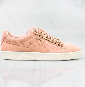 Fioletowe buty damskie puma płaska podeszwa, wiosna 2020 w